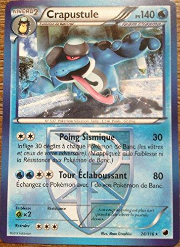 carte Pokémon Crapustule 140 PV 26/116 GLACIATION PLASMA NEUF FR