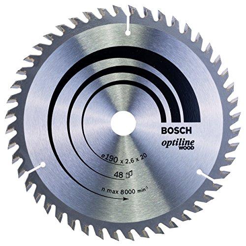 Bosch Professional Kreissägeblatt Optiline Wood (für Holz, 190 x 20 x 2,6 mm, 48 Zähne, Zubehör Kreissäge)