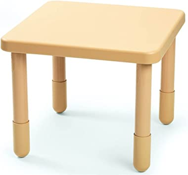 Children's Factory Round Edges Square Kids Table in Tan (28 in. W x 28 in. D x 20 in. H (8 lbs.))