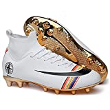 Niber Soccer Shoes for Boys Soccer Shoes High Tops Turf Outdoor High Ankle Boots AG Ground Outdoor - Indoor Soccer Shoes High Tops Big Kids
