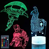 Koyya Llama 3D Night Light Illusion Table Lamp with 7 Color and 4 Changing Modes, USB Power/Touch Switch/with Remote Control for Room Decor,Kids's Toy and Gifts, 3 Pack……