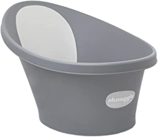 Shnuggle Baby Bath with Plug & Foam Backrest, Slate Grey