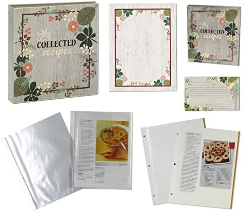 Meadowsweet Kitchens Recipe Collection Binder Gift Sets Vintage Flowers Deluxe product image