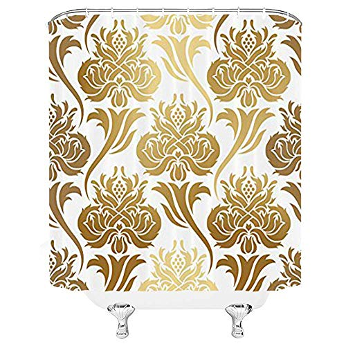 "Boho Mandala Fabric Shower Curtain 71X71/"" Waterproof Sheer Set Bath Accessories"