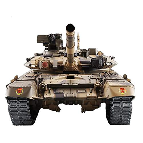 Deliya RC Panzer Russland T90 1:16 Light & Sound Und Metallgetriebe 2,4Ghz 3H Run Time,Battery*3