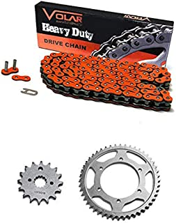 Volar Chain and Sprocket Kit - Heavy Duty - Orange for 2006-2007 KTM 250 XC