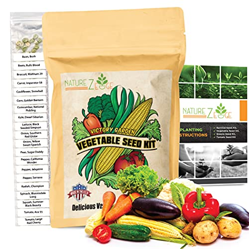Vegetable Seeds- 5000 Seeds for Planting Vegetables, 20 Varieties of Non-GMO Plant Seeds, Tomato...