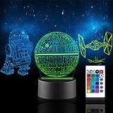 Xpassion 3D Lámpara de Escritorio, Game Player Gift Luz Nocturna 16...