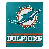 Northwest NFL Miami Dolphins 50x60 Fleece Split Wide DesignBlanket, Team Colors, One Size