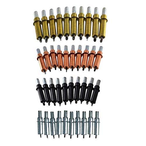 40 piezas de sujetadores temporales Cleco Skin Pins de chapa de 2-4,75 mm, 4 tamaños