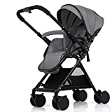 Cochecito de bebé Silla de paseo plegable de una sola mano Sit or Lie Cochecito de bebé, Cochecitos de bebé portátiles ultraligeros, altura ajustable de aluminio de aleación de aluminio para niños