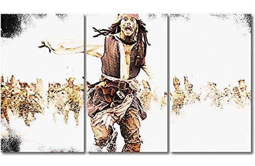 WandbilderXXL Immagine su Tela Pirati dei Caraibi 180x 100cm–in 6Diverse Misure. Stampata su Tela e preparata su Telaio. Quadri su Tela a Prezzi Top.
