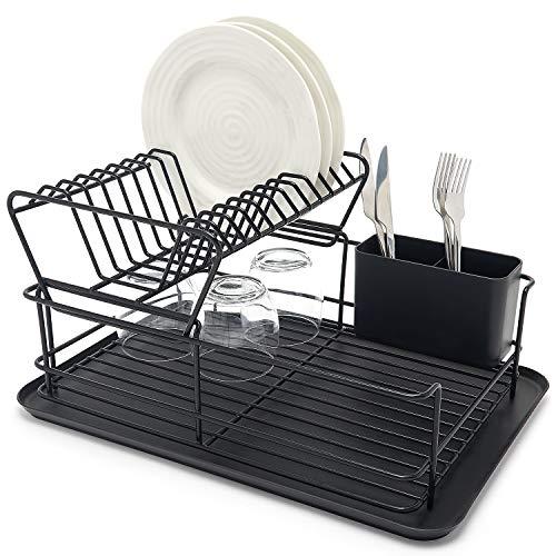 simplywire Égouttoir à vaisselle à deux niveaux - Égouttoir amovible - Noir