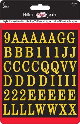 The Hillman Group 842266 7/8-Inch By 5/8-Inch Gold Letters And Numbers by The Hillman Group