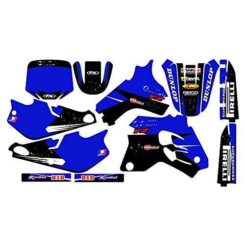Pegatinas de motocross para Yamaha YZ80 YZ 80 1993 1994 1995 1996 1997 1998 1999 2000 2001 80 YZ etiqueta decoración (color: azul)