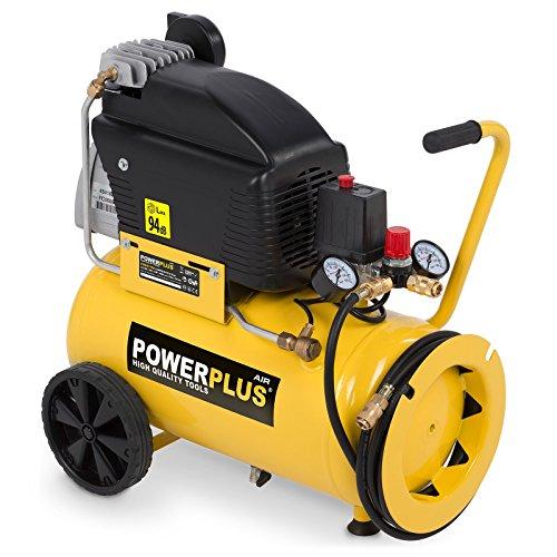 Powerplus Elektro Powerplus Kompressor 10bar 24-Liter-Tank 2,5 PS DruckluftPowerplus Kompressor …