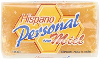 Hispano Personal con Miel 4.4 oz [Honey Soap] Pack of 12 Bars