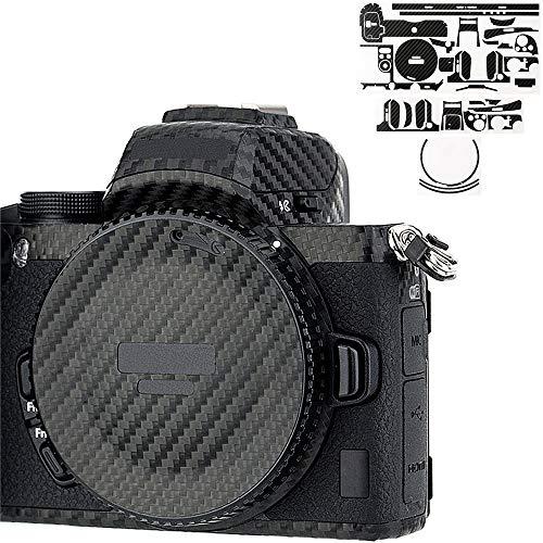 カメラ保護レザーフィルム ニコン Nikon Z50 + 16-50mm レンズ に対応 カメラ3M材料カーボンファイバ