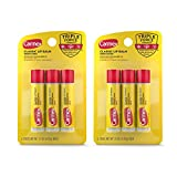Carmex Medicated Lip Balm Sticks, Lip Moisturizer for Dry, Chapped Lips, 0.15 OZ - 3 Count (2 Pack)