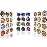 INC-CNY Nail Foil Art Set 36 Boxes Nail Glitter Nail Art Design Decoration 19 Colors