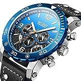 SAILORMJY Herren Armbanduhr Herren Uhren wasserdichte automatische Multi-Funktions-Sportzeit leuchtende Quarzwerk Taktische Uhr