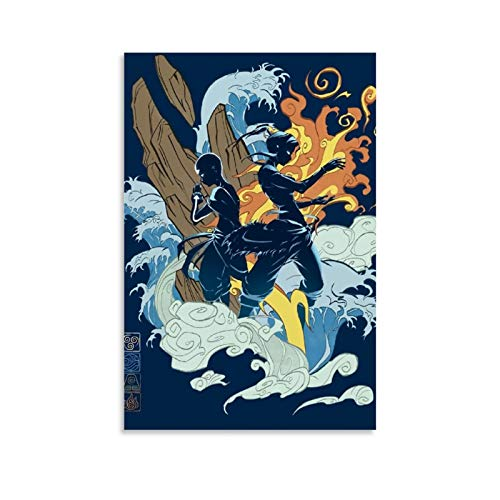 Yuhui Póster de Avatar La leyenda de Aang y arte de pared, impresión moderna, para decoración de dormitorio familiar, 40 x 60 cm
