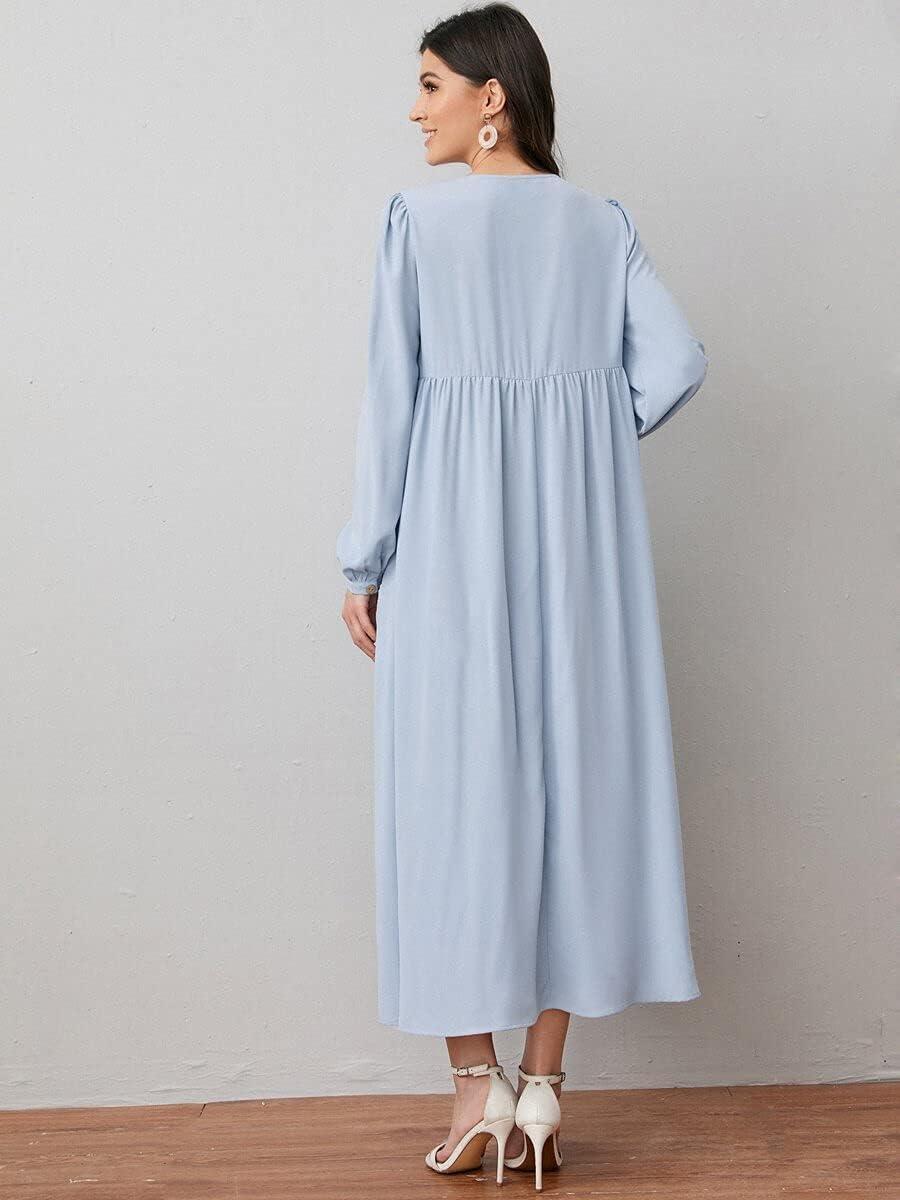 Shreem85 Attention brand Maternity Dress Lantern B Max 46% OFF Pocket Patch Sleeve