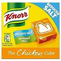 クノールチキン減塩ストックキューブ6×9グラム - Knorr Chicken Reduced Salt Stock Cubes 6 x 9g [並行輸入品]