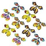 10 tarjetas mágicas de mariposa voladora con forma de mariposa voladora, tarjeta de regalo para cumpleaños, aniversario, boda, regalo de juguetes (color al azar)