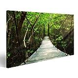 Islandburner cuadro cuadros puente colgante en el bosque genial y muy bonito! Mzn