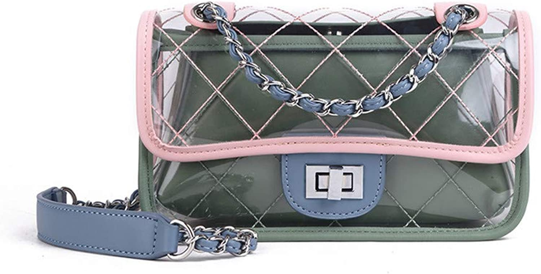 LXY Fashion Jelly Transparent Casual Versatile Lock Women's Handbag