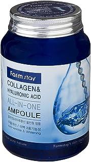 امبولة الكل في واحد بالكولاجين وحمض الهيالورونيك من فارم ستاي ، 250 مل