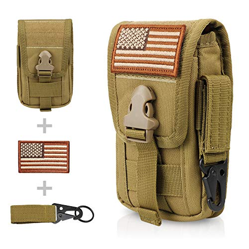 WYNEX Tactical Phone Pouch Molle, Smartphone Holster Bag EDC...