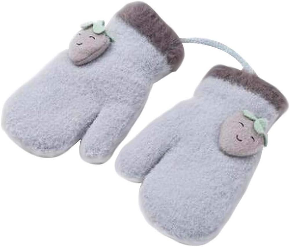 Lovely Knitted Baby Mittens Warm Winter Children Mittens Baby Gloves #03