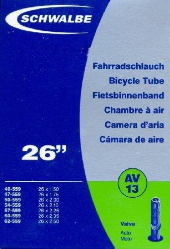 """SCHWALBE Fahrradschlauch AV13 mit Autoventil ~ 26"""" ~ 40/62-559 mm (26 x 1,50 - 2,50 Zoll) auch für MTB's + Leichtmofas"""