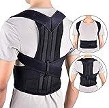 WHYTT Cinturón de corrección jorobada para Adolescentes y Hombres Adultos Adecuado para Mejorar la Postura Incorrecta del Cuello y la Espalda,L