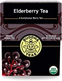 Organic Elderberry Tea - Kosher, Caffeine-Free, GMO-Free - 18 Bleach-Tea Bags