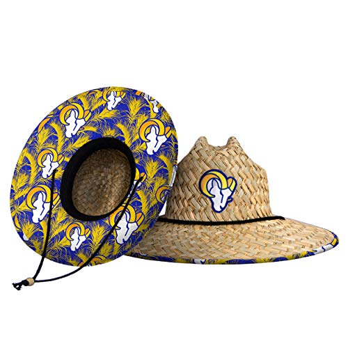Los Angeles Rams NFL Floral Straw Hat