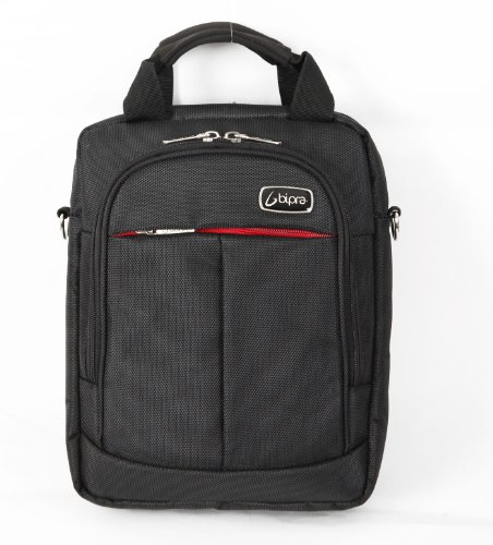 BIPRA 10.2 Netbook Messenger Bag Black Suitable for 10.2 Inch Devices Netbook Laptop Computers, Tablets, Ipad
