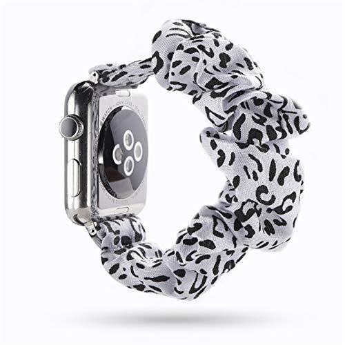 MPWPQ Scrunchie Strap para Apple Watch 5 Band 44mm 40mm Mujeres Relojes de Banda para Mujer para Apple Watch Series 5 4 3 para Banda de iWatch 38mm 42mm Reloj de Reloj