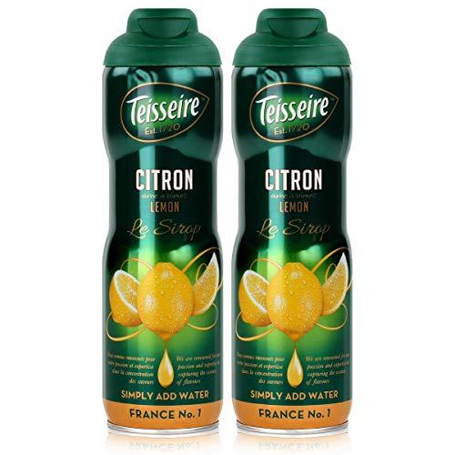 Teisseire Getränke-Sirup Lemon/Zitrone 600ml - Sirup der genauso schmeckt wie die Frucht (2er Pack)