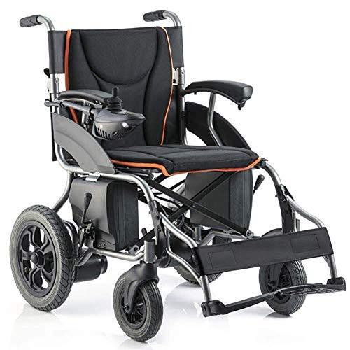 TJZY Mobilitätshilfen, medizinischer Sitz, elektrische Rollstuhl Klappleistung Rollstuhl leichte ältere Behinderte Vierrad automatische intelligente leistungsstarke Dual-Motor-Rollstuhl