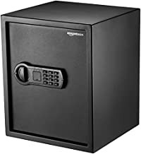 Amazon Basics Steel Home Security Safe with Programmable Keypad - Secure Documents, Jewelry, Valuables - 1.52 Cubic Feet, 13.8 x 13 x 16.5 Inches, Black