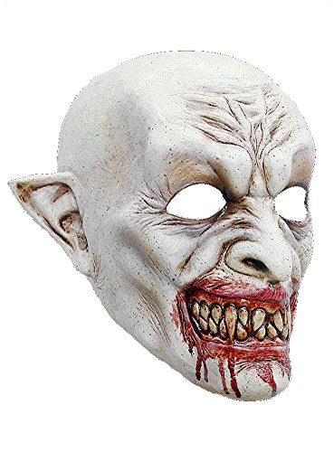 Dracula Maske des Grauens aus Latex - Erwachsenen Horror Vampir Kostüm Vollmaske - ideal für Halloween, Karneval, Motto- & Grusel-Party