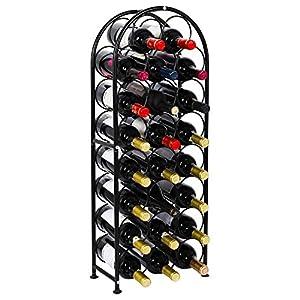 PAG 23 Bottles Arched Freestanding Floor Metal Wine Rack Wine...