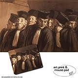1art1 Honoré Daumier, Los Abogados 1 Póster Impresión Artística (120x80 cm) + 1 Alfombrilla para Ratón (23x19 cm) Set Regalo