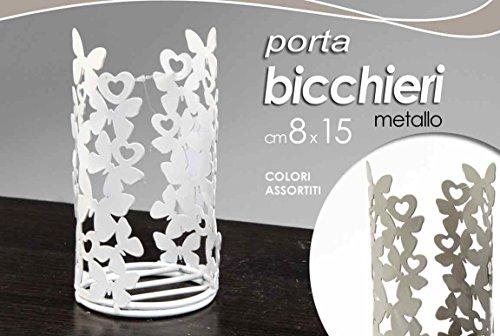 Gicos PORTABICCHIERI in Metallo 8X15 CM