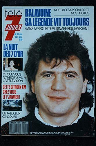 Télé 7 Jours 1544 * 1990 * BALAVOINE Mickey Véronique SANSON Lenorman May Lama Dombasle Bardot Selleck Pivot