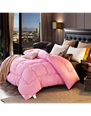Edredón de espesamiento mantener cálido único / doble edredones de invierno aire acondicionado edredón (rosa) ( Tamaño : 150*200cm 1.5kg )