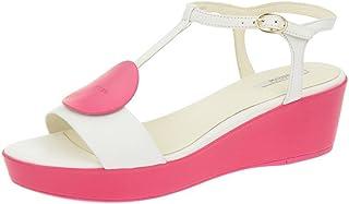 4f07f97d0d86d3 Geox Geox Nouvelle - Damen Sandalette - weiß pink, Sandales pour femme